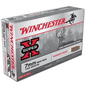 Winchester Super X 7mm Remington Magnum Ammunition 20 Rounds JSP 150 Grains X7MMR1