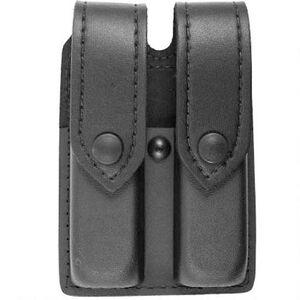 "Safariland Model 77 Double Magazine Pouch Ambidextrous Fits GLOCK 19/23 2.25"" Belt Black Snaps Safarilaminate Plain Black"