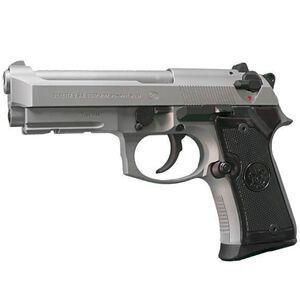 "Beretta Inox Compact Semi Auto Handgun 9mm Luger 4.25"" Barrel 13 Rounds Satin Stainless Steel Finish J90C9F"