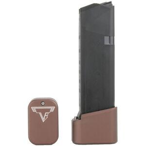 Taran Tactical Innovations +4/+5 GLOCK 19/23 Firepower Base Pad Kit Coyote Bronze