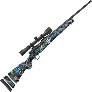 """Mossberg Patriot Youth Super Bantam .308 Win Bolt Action Rifle 20"""" Fluted Barrel 5 Rounds with 3-9x40mm Scope Muddy Girl Serenity Synthetic Stock Matte Blued Finish"""