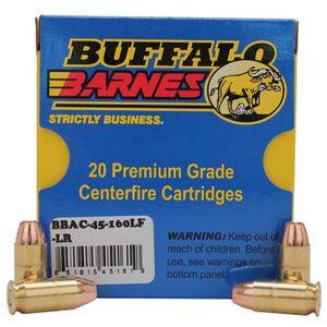 Buffalo Bore Low Recoil .45 ACP Ammunition 20 Rounds Barnes TAC-XP 160 Grain 45-160LF-LR/20