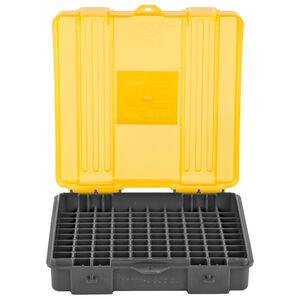 Plano 100 Count Handgun Ammunition Storage Case 9mm Luger/.380 Auto Polymer Dark Gray/Transparent Amber