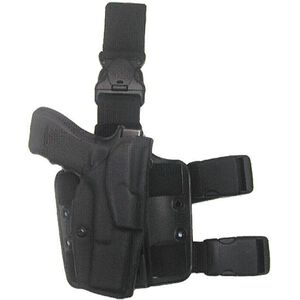 Safariland Model 6304 Tactical Holster with Quick Release Leg Harness Left Hand GLOCK 17, 22 with Light STX Tactical Black Finish 6304-832-132