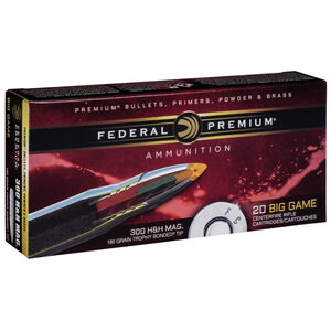 Federal .300 H&H Magnum Ammunition 20 Rounds PTBT 180 Grains