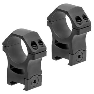 Leapers UTG Pro P.O.I. Picatinny Scope Rings 30mm High Aluminum Black 2 Pack