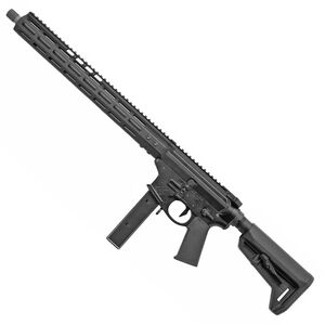 "Noveske 9 Gen 4 9mm Luger AR-15 Style Semi Auto Rifle 16"" Barrel 30 Round Magazine M-LOK Free Float Hand Guard Magpul SL-K Stock Matte Black"