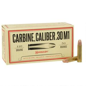 Hornady .30 Carbine Ammunition 50 Rounds FMJ 110 Grains 8102