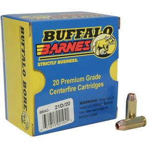 Buffalo Bore 10mm Auto Ammunition 20 Rounds Barnes TAC-XP SCHP 155 Grains 21D/20
