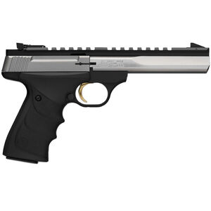 "Browning Buck Mark Standard URX Semi Auto Handgun .22 Long Rifle 5.5"" Slabside Bull Barrel 10 Rounds Black URX Grips Matte Stainless Steel Finish 051507490"