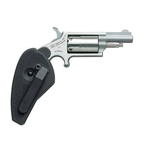 """NAA Mini Revolver .22 Magnum 1.6"""" Barrel 5 Rounds Holster Grip Stainless Steel Frame NAA-22M-HGFC"""