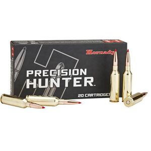 Hornady Precision Hunter .338 Lapua Magnum Ammunition 20 Rounds 270 Grain ELD-X Precision Hunter Bullet Polymer Tip 2800fps
