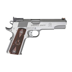 "Springfield 1911 Range Officer Semi Auto Pistol 45 ACP 5"" Barrel 7 Rounds Wood Grips Stainless"