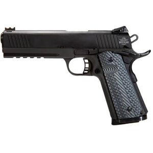 "Rock Island Armory TCM TAC Ultra FS Combo 1911 Semi Auto Handgun .22 TCM / 9mm Luger 5"" Barrel 10 Rounds Parkerized Steel Frame with Rail G10 Grips Black 51961"