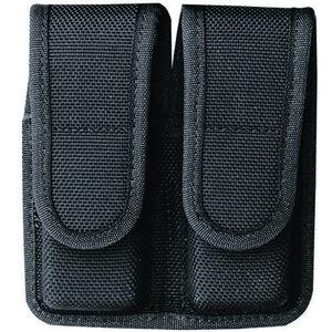 Bianchi Model 7302 SIG Sauer P230, P232, Walther PPK, PPK/S, Colt Government .380 AccuMold Dual Magazine Case Hook and Loop Flap Ballistic Weave Black 20-BI-18440