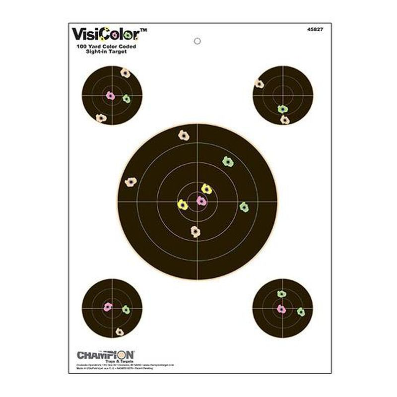 "Champion VisiColor Sight In Target 4 Extra Bulls 13""x18"" Paper 10 Pack 45827"