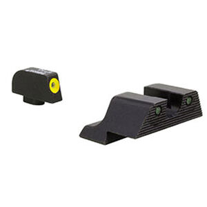 Trijicon HD XR Night Sight Set Yellow Front Outline for Glock Models 17/17L/19/22/23/24/25/26/27/28/31/32/33/34/35/37/38/39