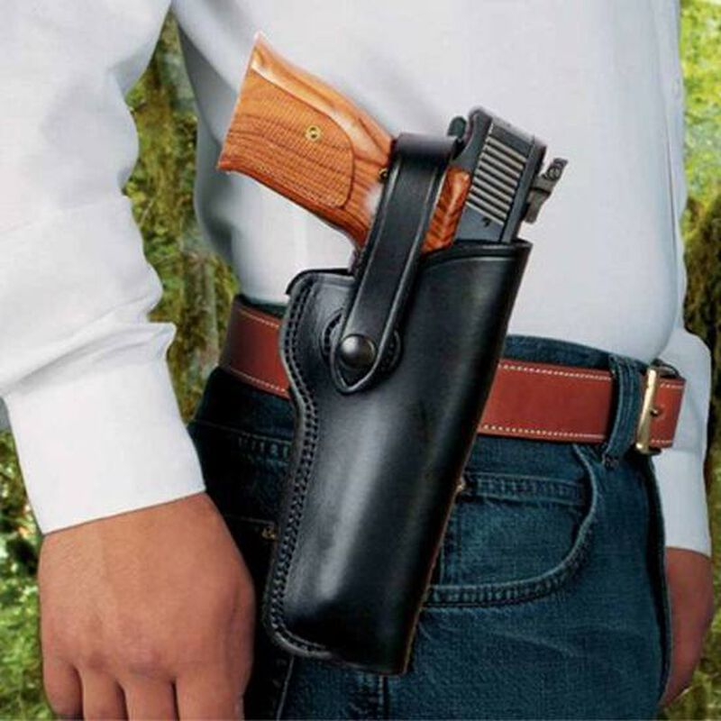 """DeSantis Gunhide """"The Woodsman"""" Browning Buckmark, Walther P22, S&W 41 with 5.5"""" Barrels Right Hand Leather Black 097BALAZ0"""