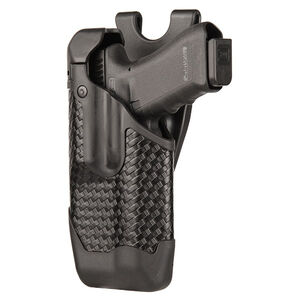 BLACKHAWK! Epoch S&W M&P 9/40 Level 3 Light Bearing Duty Holster Polymer Left Hand Basketweave Black 44E025BW-L