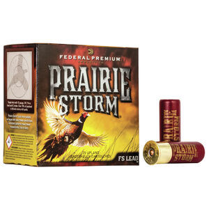 "Federal Prairie Storm 20 Gauge Ammunition 2-3/4"" #5 FS Lead Shot 1 Ounce 1350 fps"