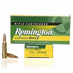 Remington Express .250 Savage Ammunition 20 Rounds Core-Lokt PSP 100 Grains R250SV