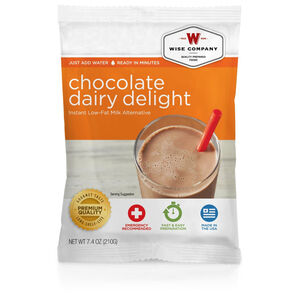Wise Company Freeze Dried Food Pouch Dessert Dish Chocolate Dairy Delight Single Pouch 6 Servings
