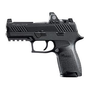 "SIG Sauer P320 RX Compact Semi Auto Pistol 9mm Luger 3.9"" Barrel 10 Rounds SIGLite Sights/ROMEO1 Red Dot Reflex Sight Modular Polymer Grip Nitron Finish Matte Black"