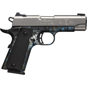 "Browning 1911-380 Black Label Pro Compact .380 ACP Semi Auto Pistol 3.625"" Barrel 8 Rounds 3-Dot Sights Stainless Slide Neptune Polymer Frame"