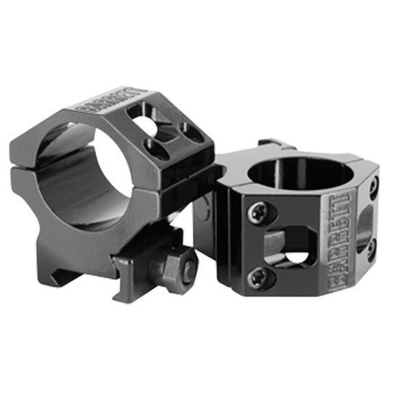 Barrett ZERO-GAP 30mm High Scope Rings Picatinny Mount Aluminum Black 13323