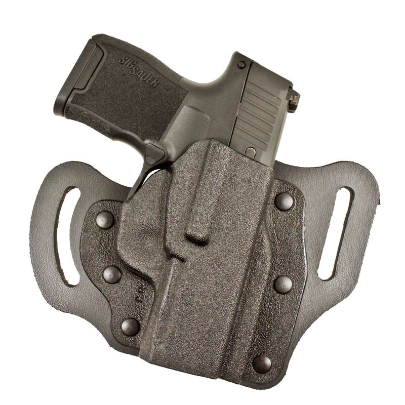 DeSantis Intimidator 2.0 Belt Holster Fits GLOCK 17/19/26 Right Hand Leather/Kydex Black