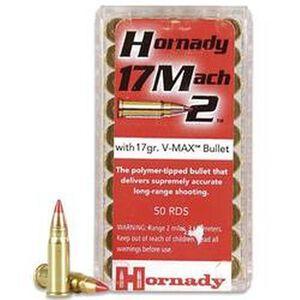 Hornady Varmint Express .17 Hornady Mach 2 (HM2) Ammunition 50 Rounds 17 Grain V-Max Polymer Tip Projectile 2100fps
