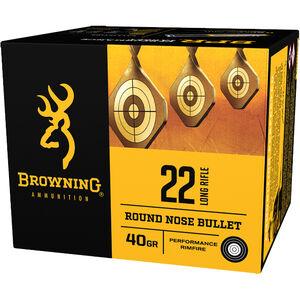 Browning BPR Target .22 LR Ammunition 40 Grain LRN 1255 fps