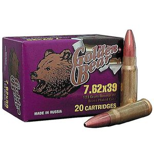 Golden Bear 7.62x39 123 Gr JHP 2,404 fps 500 Rounds