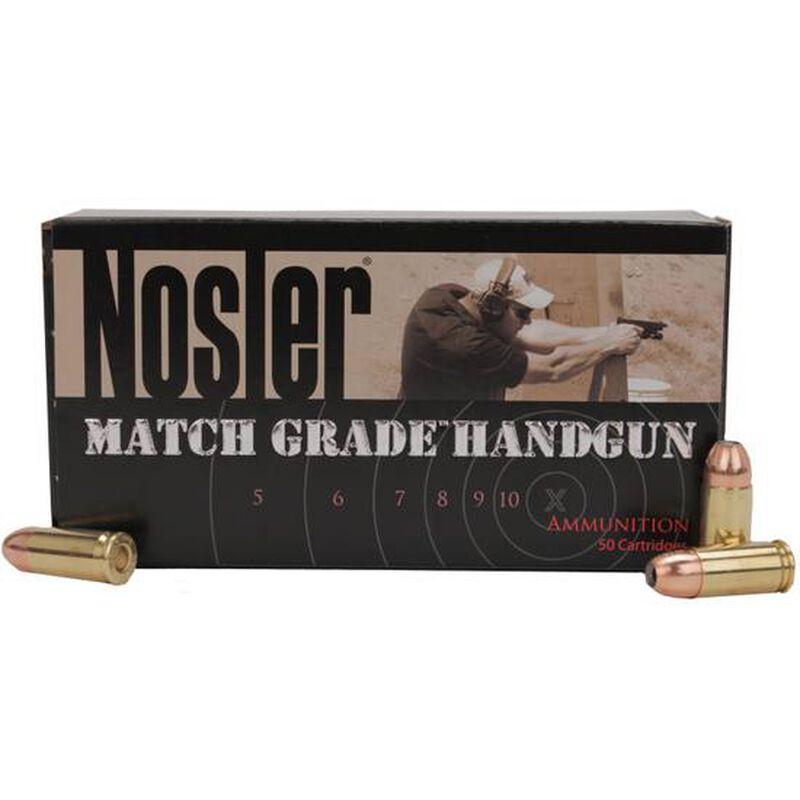 Ammo 9mm Nosler Match Grade Ammunition 115 Grain JHP Bullet 1170 fps 50 Rounds 51017