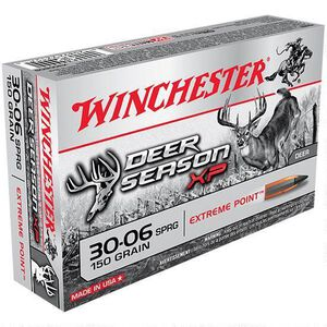 Winchester .30-06 Springfield Ammunition 20 Rounds Deer Season XP PT 150 Grains