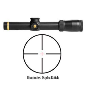Leupold VX-6 1-6x24 CDS Riflescope Illuminated Duplex Reticle 30mm 1/4 MOA Matte Black 112318