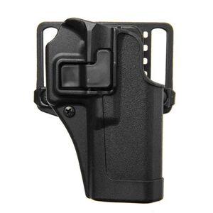 BLACKHAWK! SERPA CQC Concealment OWB Paddle/Belt Loop Holster GLOCK 17/22/31 Right Hand Polymer Matte Black Finish