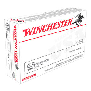 Winchester USA 6.5 Creedmoor Ammunition 20 Rounds 125 Grain Full Metal Jacket Open Tip 2850fps