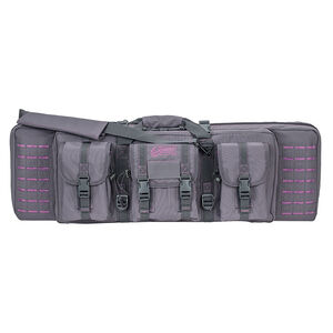 "Voodoo Tactical 36"" Padded Weapons Case Nylon Gray/Purple"
