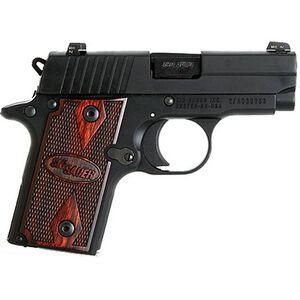 "SIG Sauer P238 Rosewood Semi Automatic Pistol .380 ACP 2.7"" Barrel 6 Rounds Hogue Rosewood Grips Nitron Finish 238-380-RG"