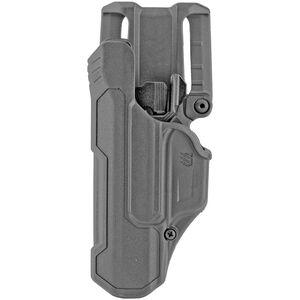BLACKHAWK! T-Series LVL 2 Duty Belt Holster for Glock 17/19/22 Left Hand Black
