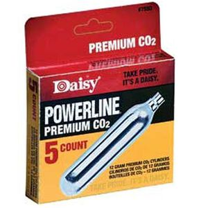 Daisy Powerline Premium CO2 Cartridge 12 Grams Box of Five