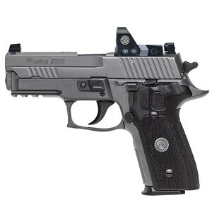 "SIG Sauer P229 Legion RX Semi Auto Pistol 9mm Luger 3.9"" Barrel 10 Rounds X-Ray Sights/ROMEO1 Reflex Sight SIG Rail Black G10 Grips Stainless Steel Slide/Alloy Frame PVD Gray Finish"
