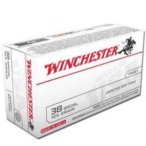 Winchester USA .38 Special Ammunition 50 Rounds, JSP, 125 Grains