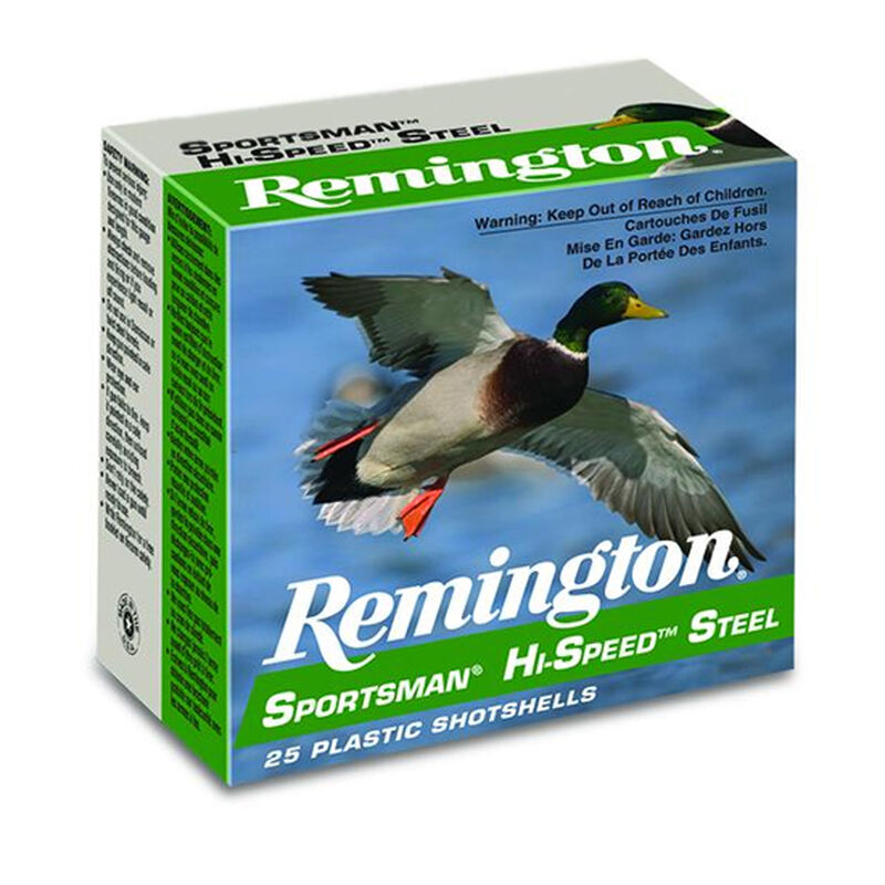 "Remington Hi-Speed Steel 10 Gauge Ammunition 25 Rounds 3.50"" #2 Steel 1.375 Ounce SSTHV102"