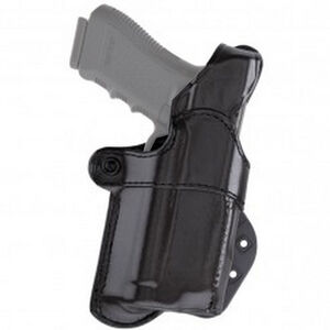 Aker Leather Nightguard GLOCK 20/21 with M3/ TLR-1/TLR-2 Paddle Holster Right Hand Leather Black