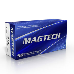 Magtech .38 Special Ammunition 1000 Rounds SJHP 158 Grains 38E