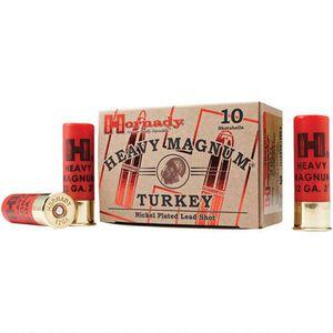 """Hornady 12 Gauge Ammunition 10 Shells 3"""" #4 Plated Shot 1.5 oz."""