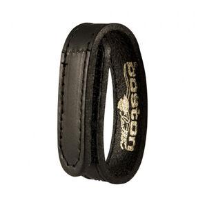 "Boston Leather .75"" Belt Keeper Hook and Loop Closure Hi-Gloss Black"
