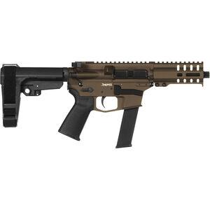 "CMMG Banshee 300 MkGs .40 S&W AR-15 Semi Auto Pistol 5"" Barrel 22 Rounds RML4 M-LOK Handguard CMMG Micro/CQB RipBrace Midnight Bronze Finish"